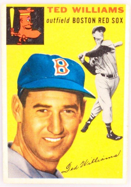 1954 TOPPS 250 TED WILLIAMS BASEBALL CARD