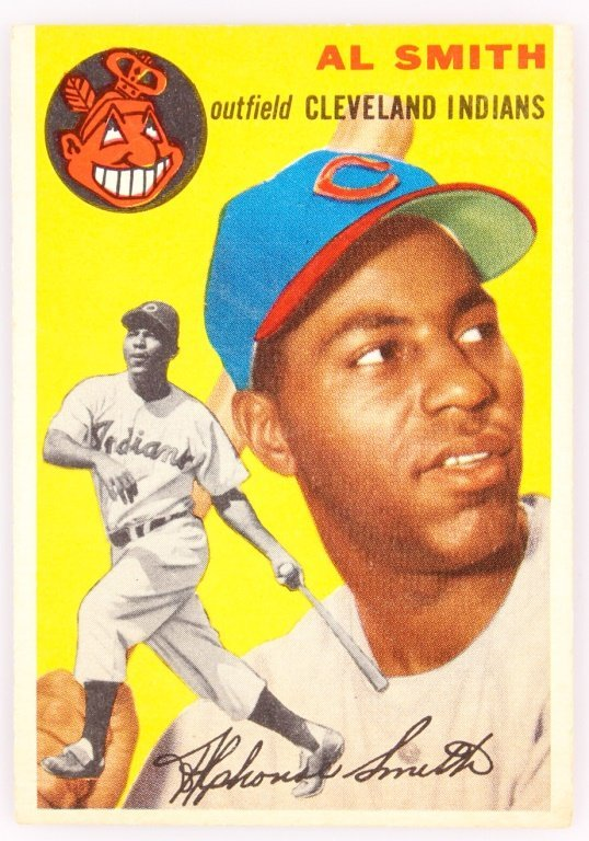 1954 TOPPS 248  AL SMITH BASEBALL CARD