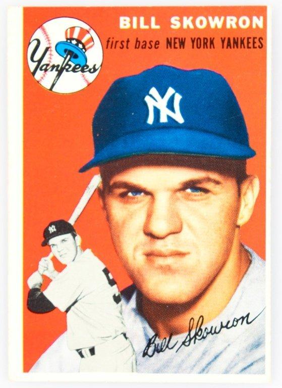 1954 TOPPS 239 BILL SKOWRON BASEBALL CARD