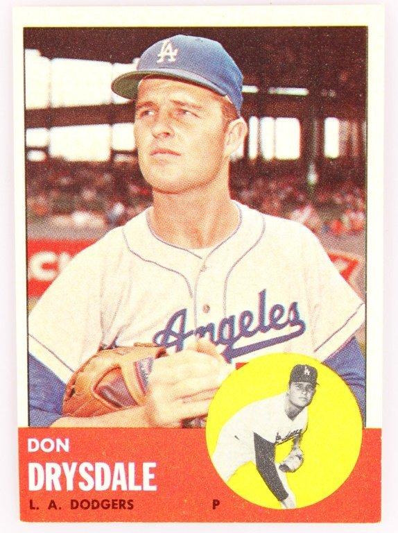 1963 TOPPS 360 DON DRYSDALE BASEBALL CARD