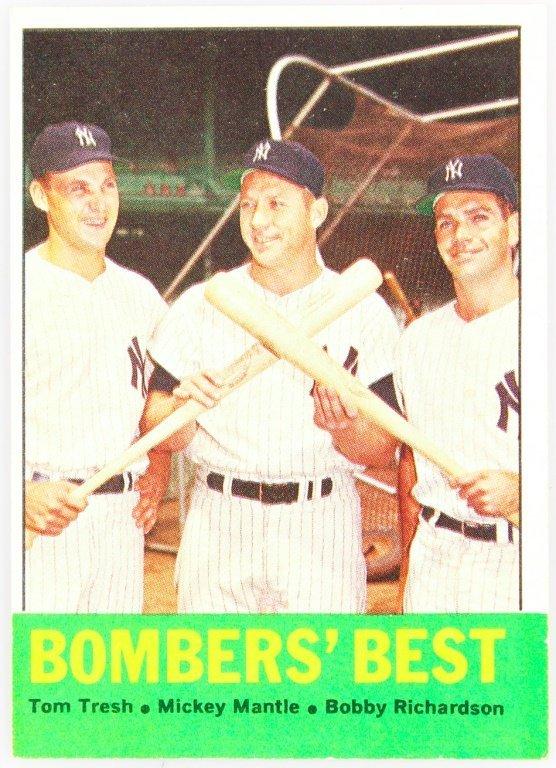 1963 TOPPS 173 YANKEES BOMBERS' BEST BASEBALL CARD