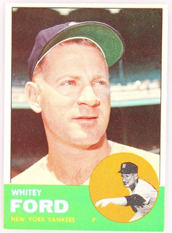 1963 TOPPS 446 WHITEY FORD BASEBALL CARD