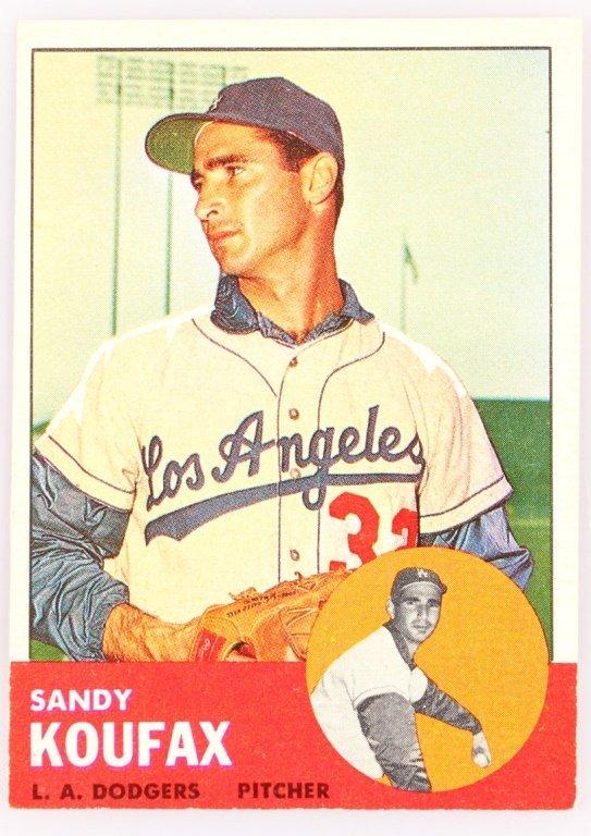 1963 TOPPS 210 SANDY KOUFAX BASEBALL CARD