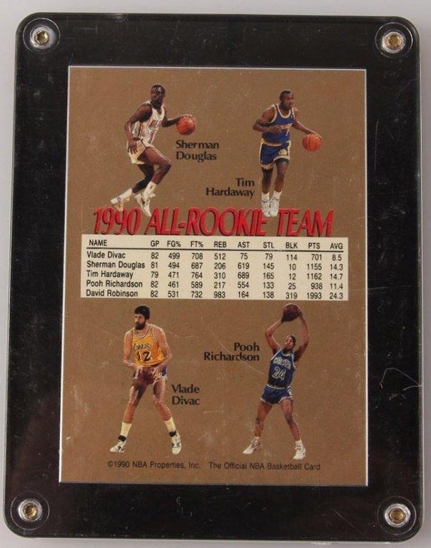 1990 NBA HOOPS DAVID ROBINSON ROOKIE AUTOGRAPHED - 2