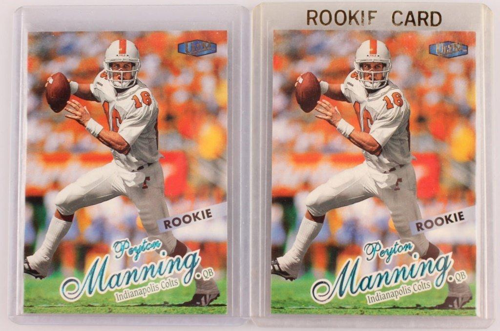 1998 TWO FLEER 201 PEYTON MANNING ROOKIE CARDS