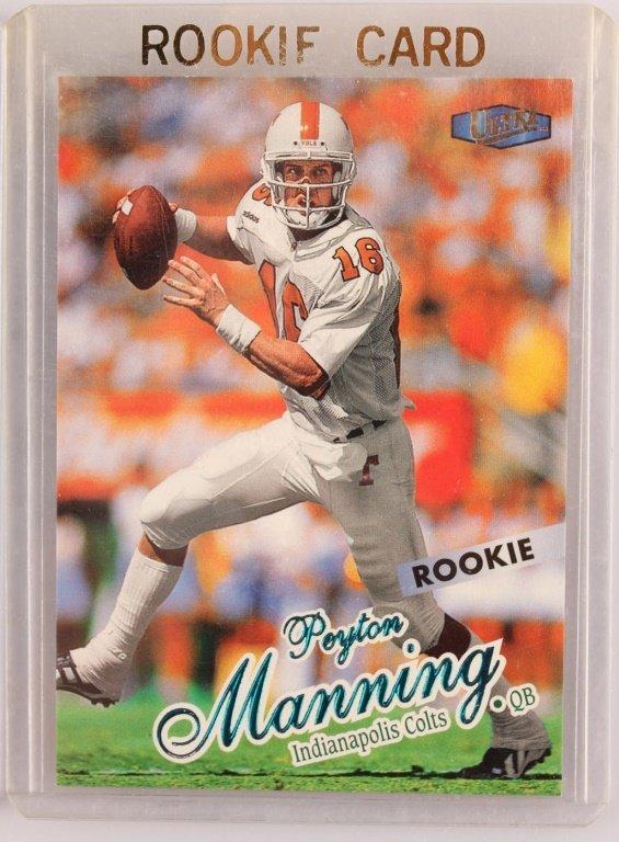 1998 TWO FLEER 201 PEYTON MANNING ROOKIE CARDS - 3