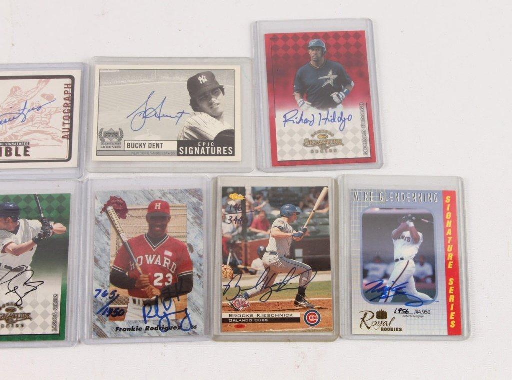 LOT OF TEN AUTOGRAPHED BASEBALL CARDS - 2