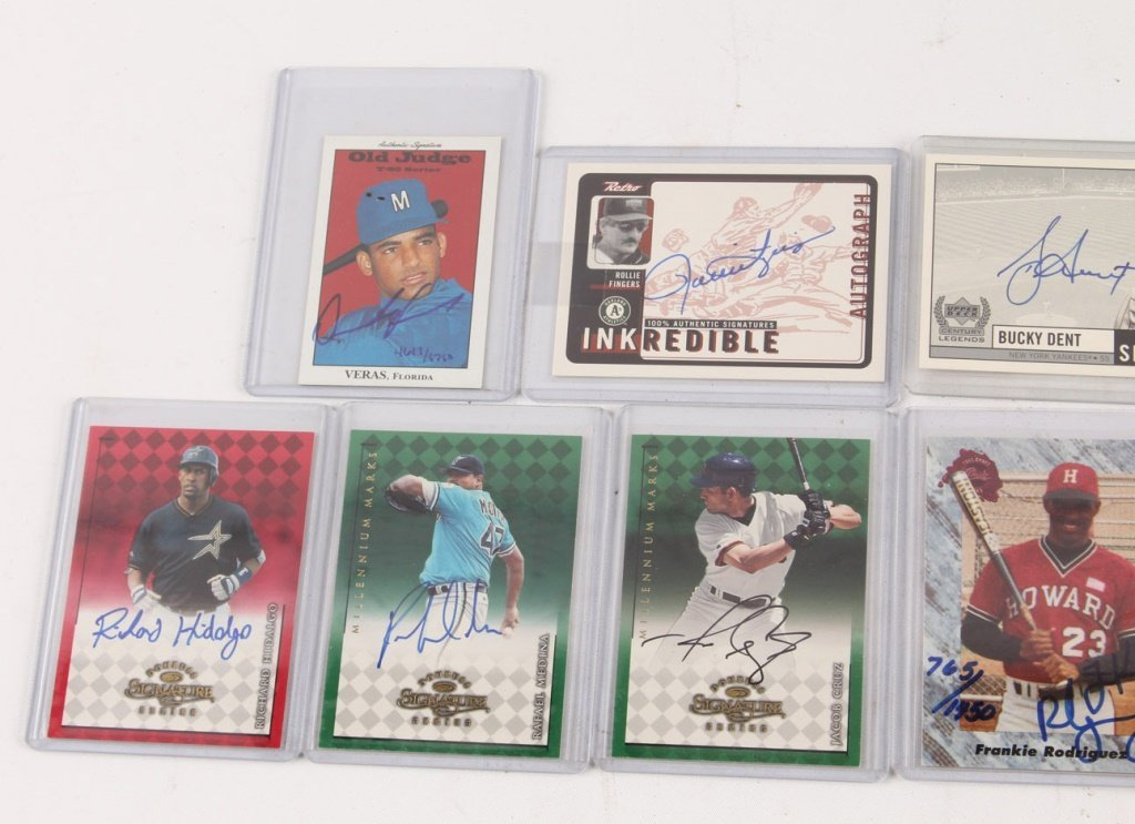 LOT OF TEN AUTOGRAPHED BASEBALL CARDS - 3