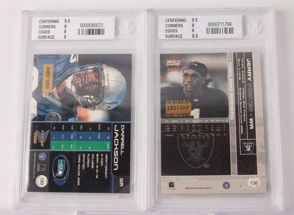 FIVE BECKETT GRADED FOOTBALL CARDS: 2000, 2001 - 4