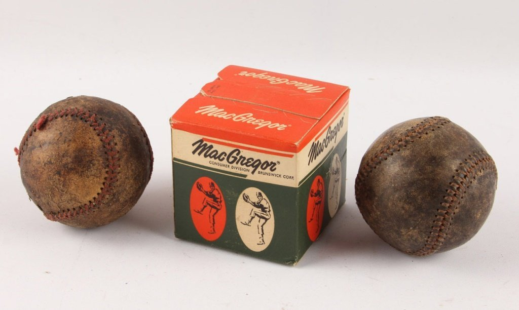 LOT OF THREE BASEBALLS 1930S & 1950S