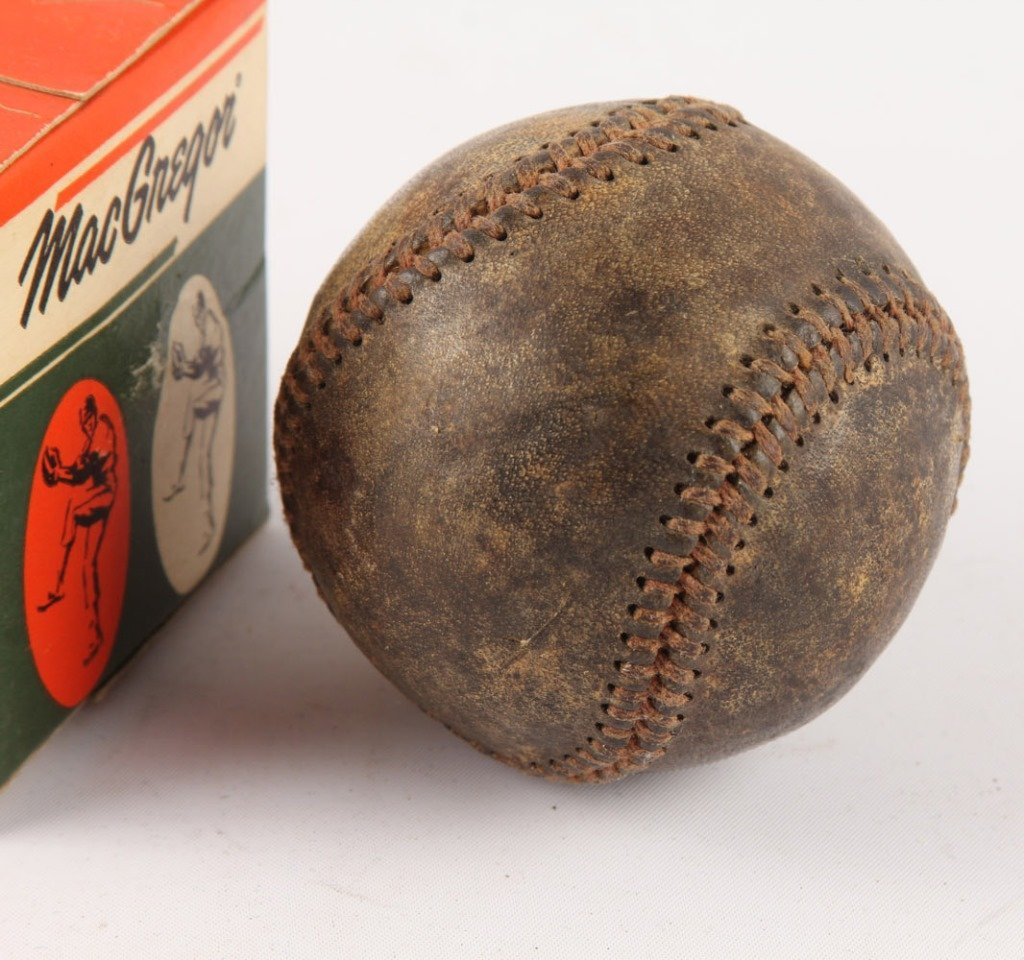 LOT OF THREE BASEBALLS 1930S & 1950S - 2