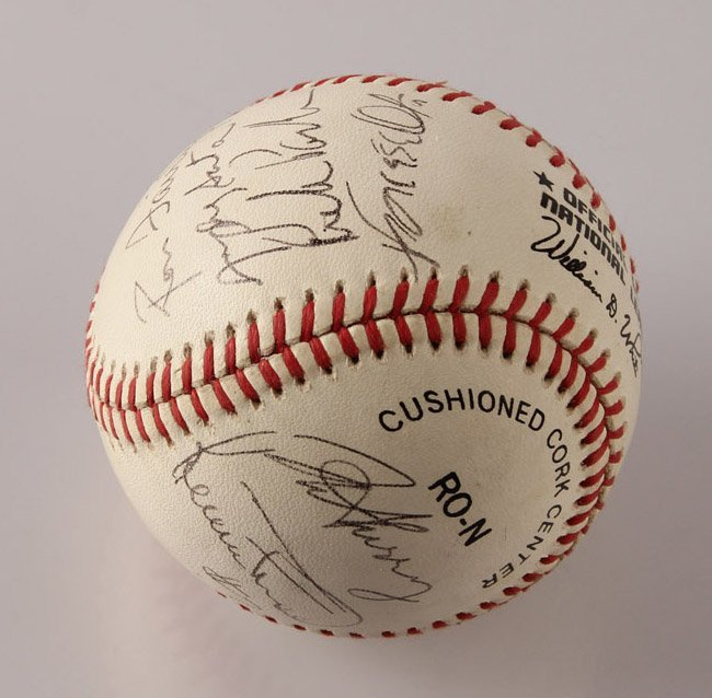 AUTOGRAPHED 1963 LOS ANGELES DODGERS BASEBALL
