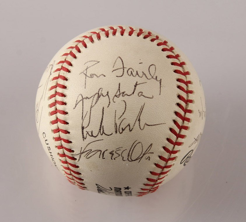 AUTOGRAPHED 1963 LOS ANGELES DODGERS BASEBALL - 2