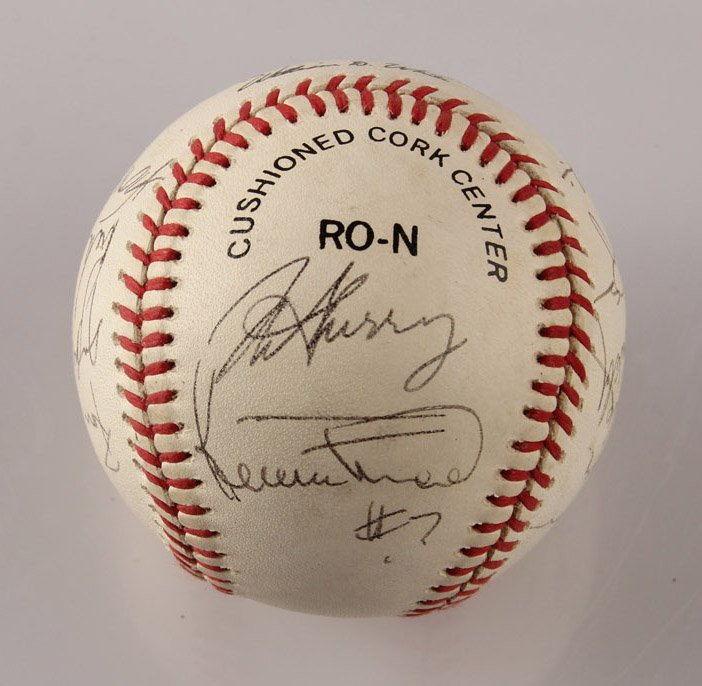 AUTOGRAPHED 1963 LOS ANGELES DODGERS BASEBALL - 3