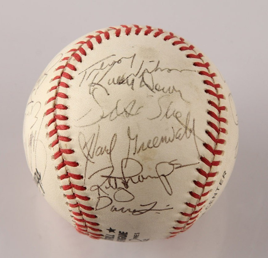 AUTOGRAPHED 1963 LOS ANGELES DODGERS BASEBALL - 4