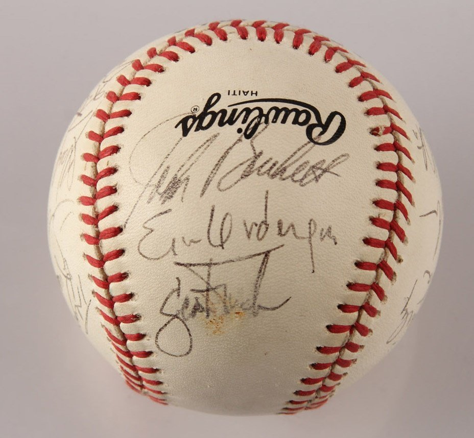 AUTOGRAPHED 1963 LOS ANGELES DODGERS BASEBALL - 5