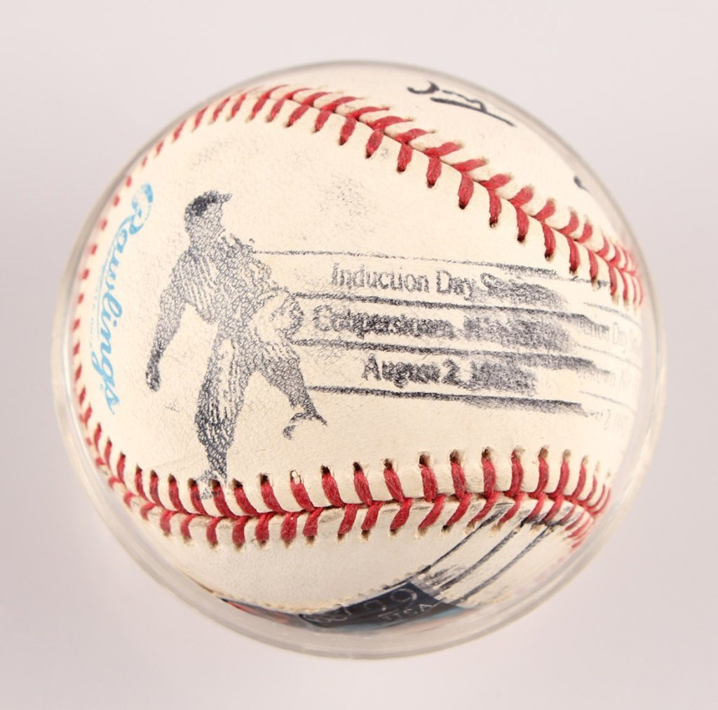 AUTOGRAPHED WILLIE MAYS BASEBALL - 4