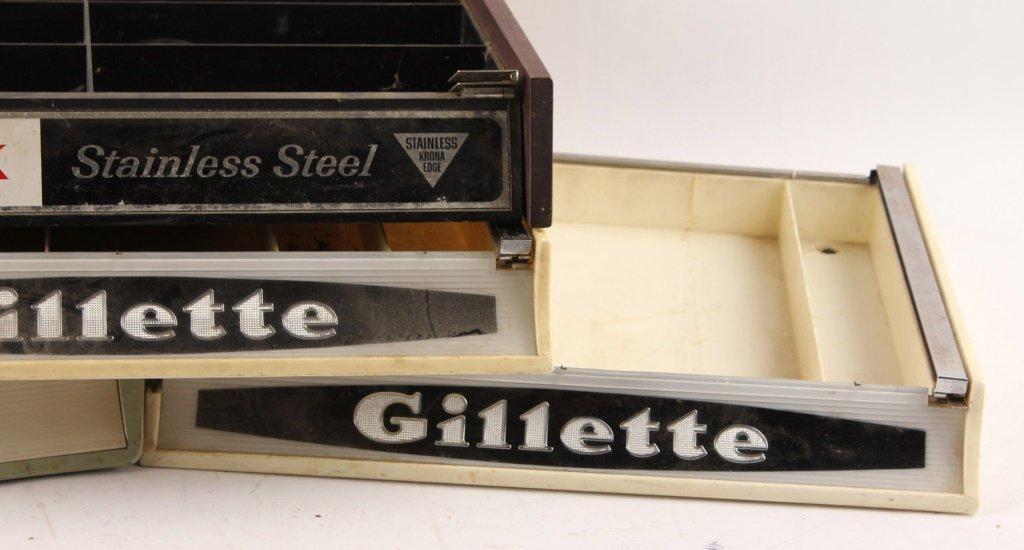 LOT OF 4 GILLETTE SCHICK COUNTERTOP DISPLAY CASES - 4