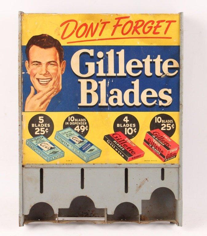 GILLETTE METAL SAFETY RAZOR BLADE DISPENSER