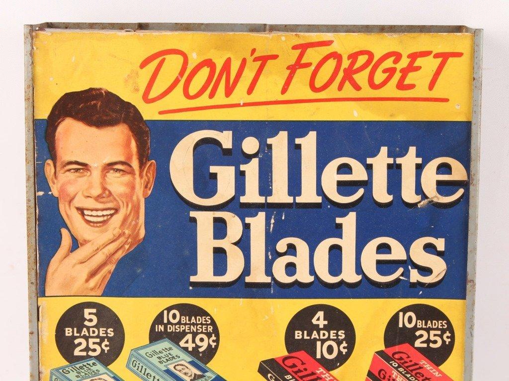 GILLETTE METAL SAFETY RAZOR BLADE DISPENSER - 2