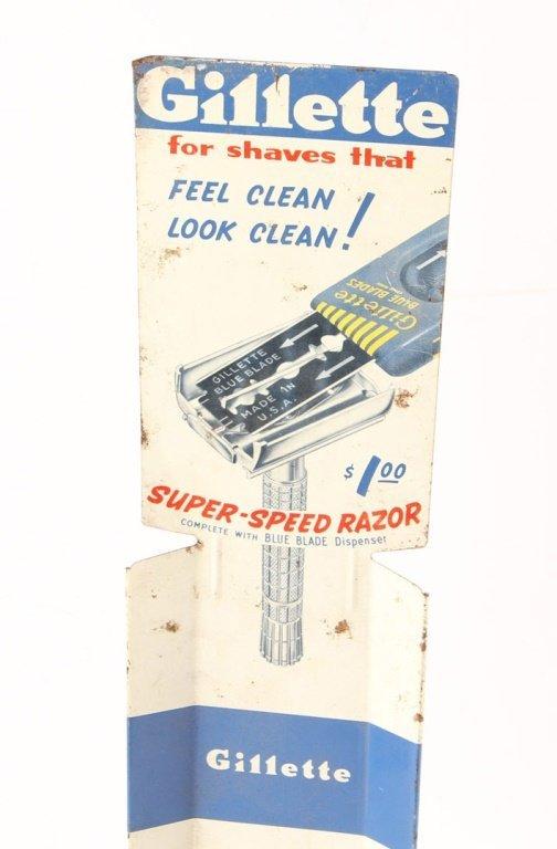 GILLETTE SUPER SPEED RAZOR BLADE DISPENSER STAND - 3