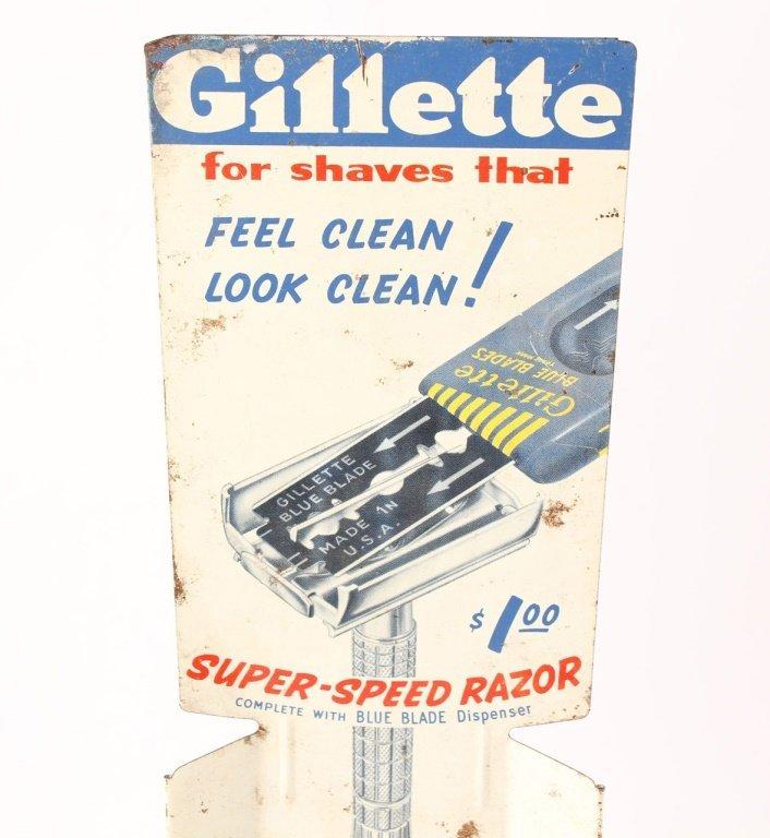 GILLETTE SUPER SPEED RAZOR BLADE DISPENSER STAND - 4
