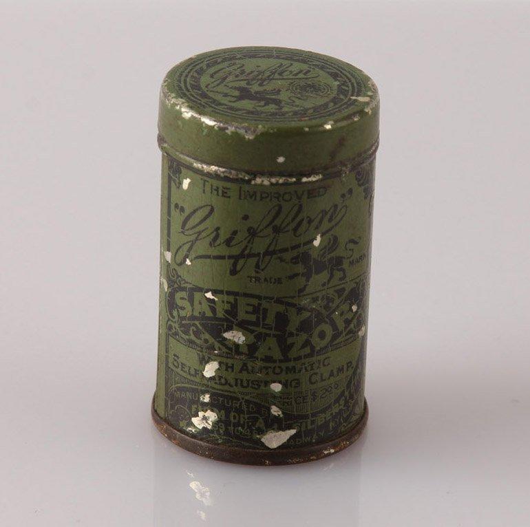 GRIFFON PAT. 1901 SAFETY LATHER CATCH RAZOR IN TIN