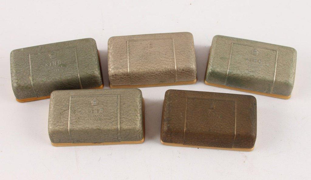 LOT OF 4 KING 22K GOLD PLATE DE OSCILLATOR RAZORS