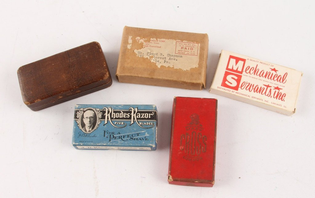 MIXED LOT OF 5 SAFETY RAZORS IN ORIGINAL BOXES