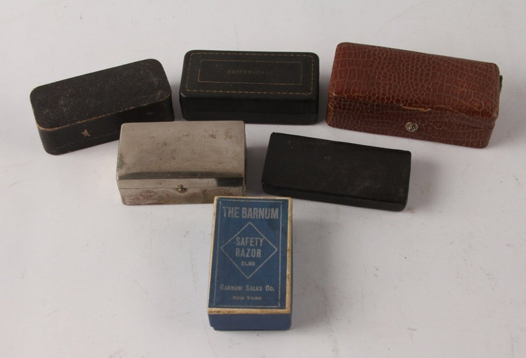 MIXED LOT OF 6 SAFETY RAZORS IN ORIGINAL BOXES