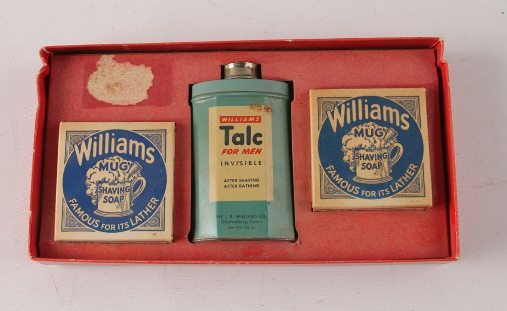 MIXED LOT OF 8 SHAVING TALCUM POWDER TINS - 5