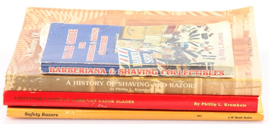 LOT OF 4 RAZOR COLLECTING & PRICING BOOKS KRUMHOLZ