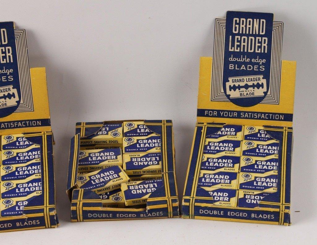 LOT OF 5 COUNTERTOP GRAND LEADER RAZOR BLADE BOXES - 2