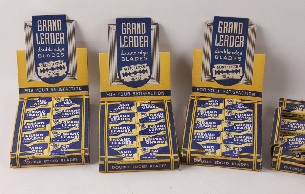 LOT OF 5 COUNTERTOP GRAND LEADER RAZOR BLADE BOXES - 3