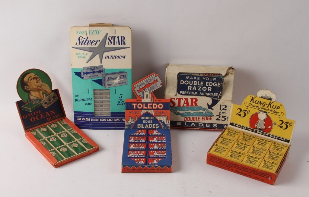 LOT OF 5 COUNTERTOP MIXED MAKERS RAZOR BLADE BOXES