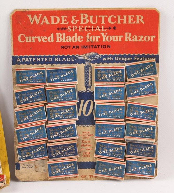 LOT OF 4 CARDBOARD MIXED RAZOR BLADE DISPLAY ITEMS - 3