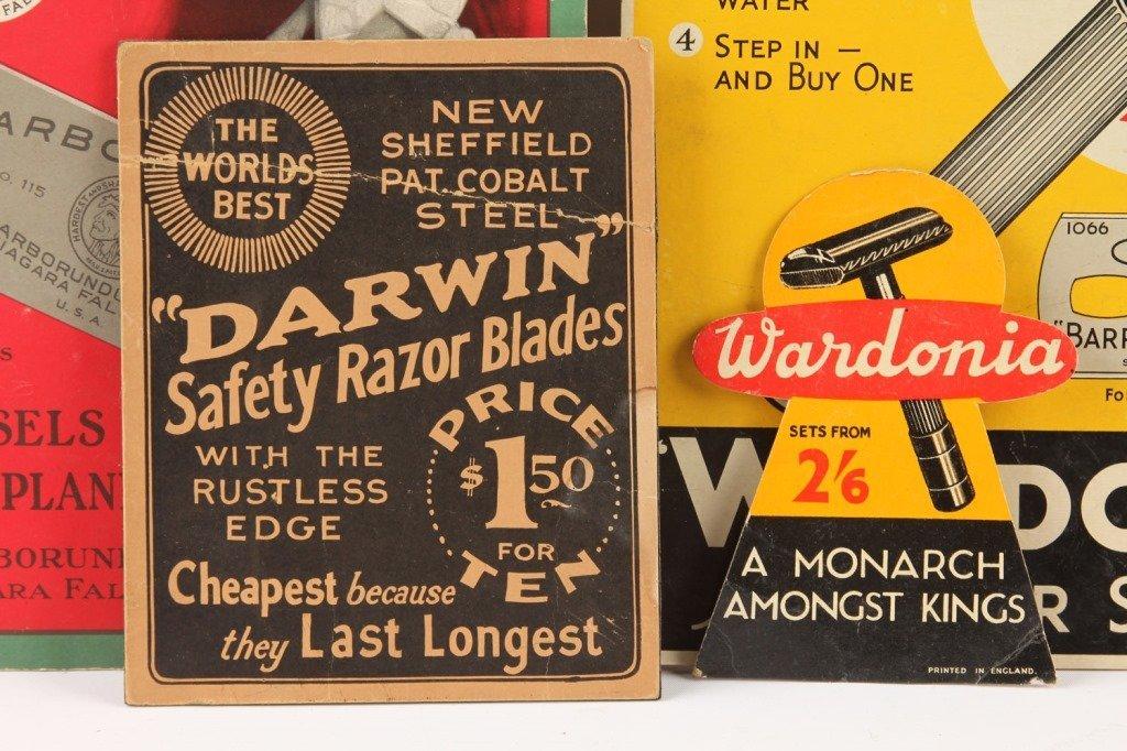 LOT OF 4 CARDBOARD RAZOR BLADE ADVERTISING DISPLAY - 2
