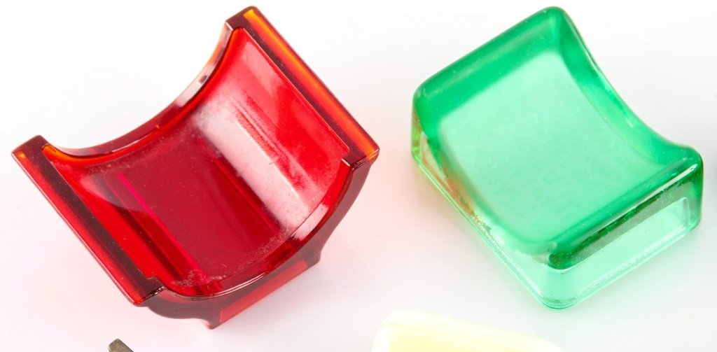 LOT OF 6 MIXED GLASS RAZOR BLADE HONES - 3