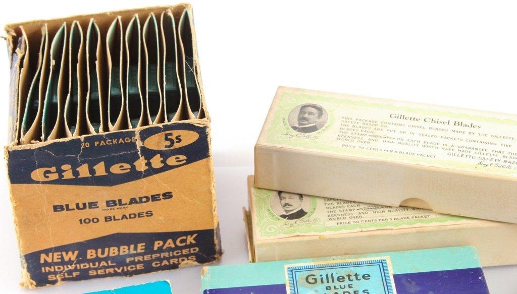 LARGE LOT OF GILLETTE SAFETY RAZOR BLADE PACKETS - 7