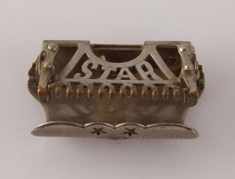 STAR PAT. 1901 LATHER CATCHER SAFETY RAZOR IN TIN - 3