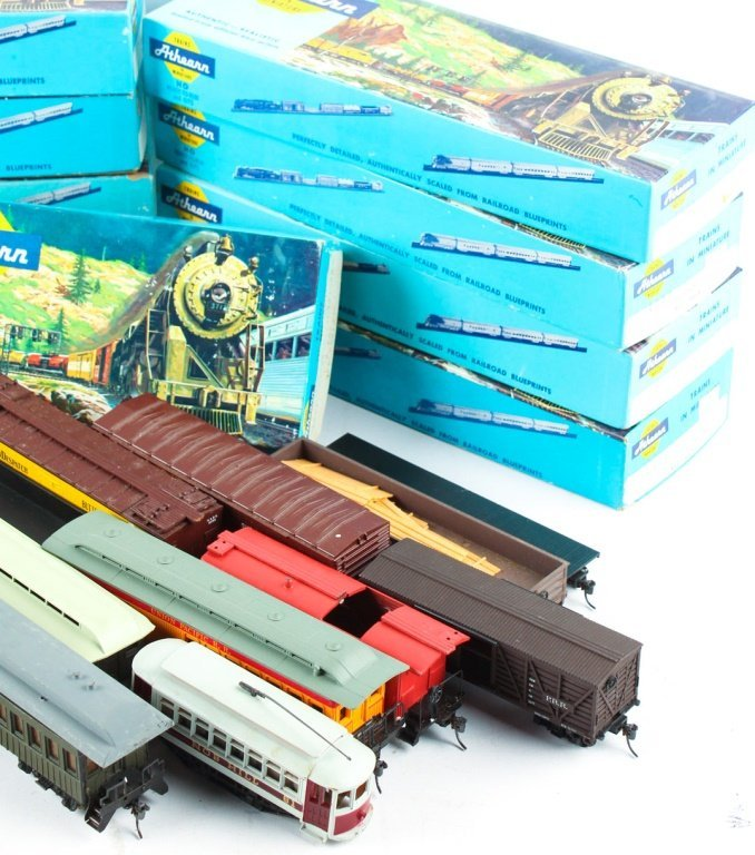 LARGE MIXED LOT OF ATHEARN, TYCO , AND AHM TRAINS - 2
