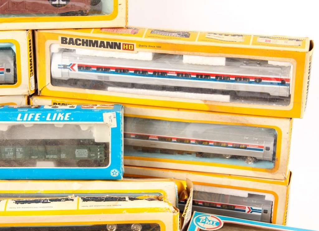 LOT OF BACHMANN, AHM, AND PMI MODEL TRAINS - 4