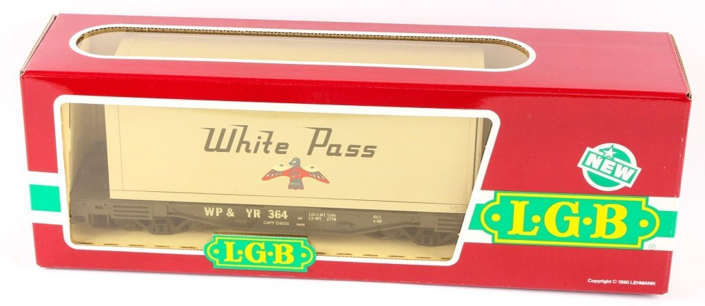 LGB TRAINS 4085 WHITE PASS & YUKON CONTAINER CAR