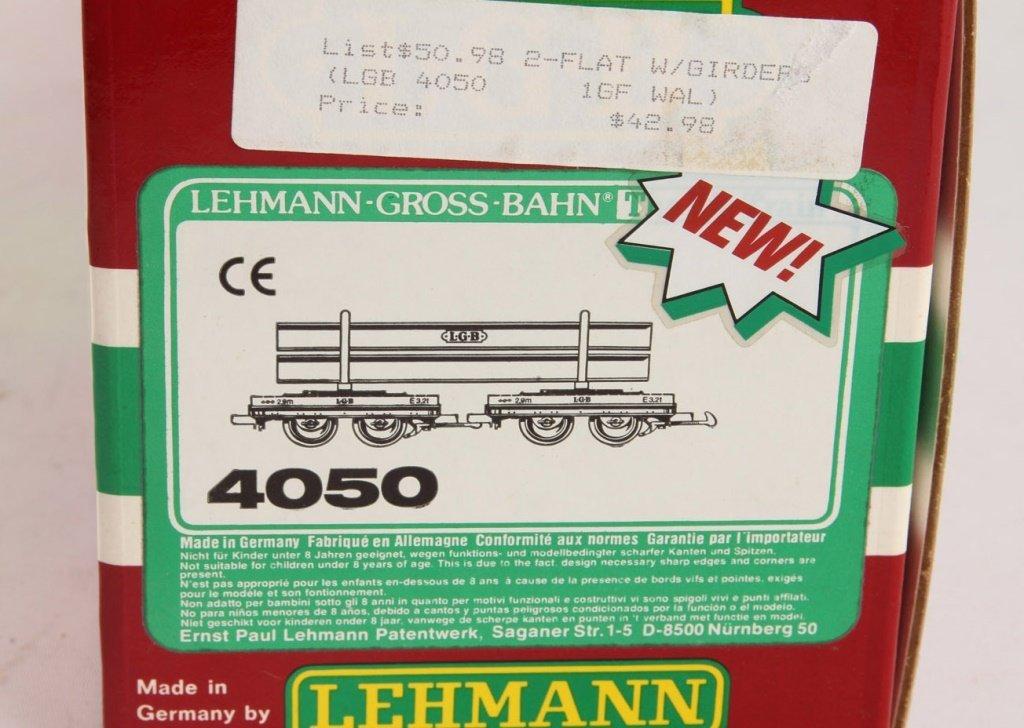 LGB 4050 TRAINS FLATCAR WITH ORANGE I-BEAM LOAD - 2