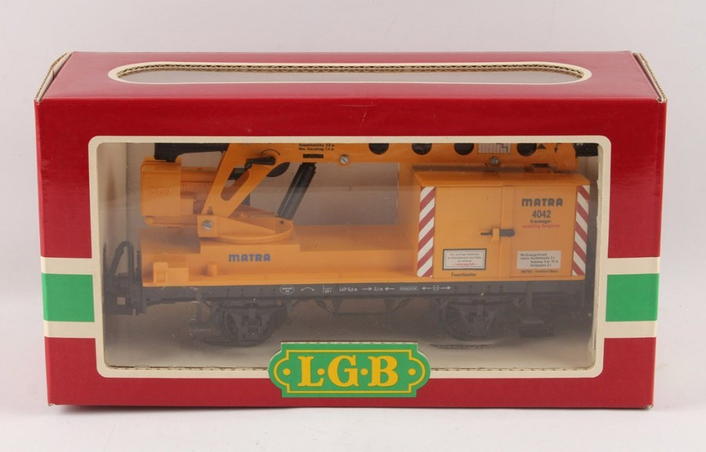 LGB 4042 MATRA YELLOW CONSTRUCTION CRANE CAR