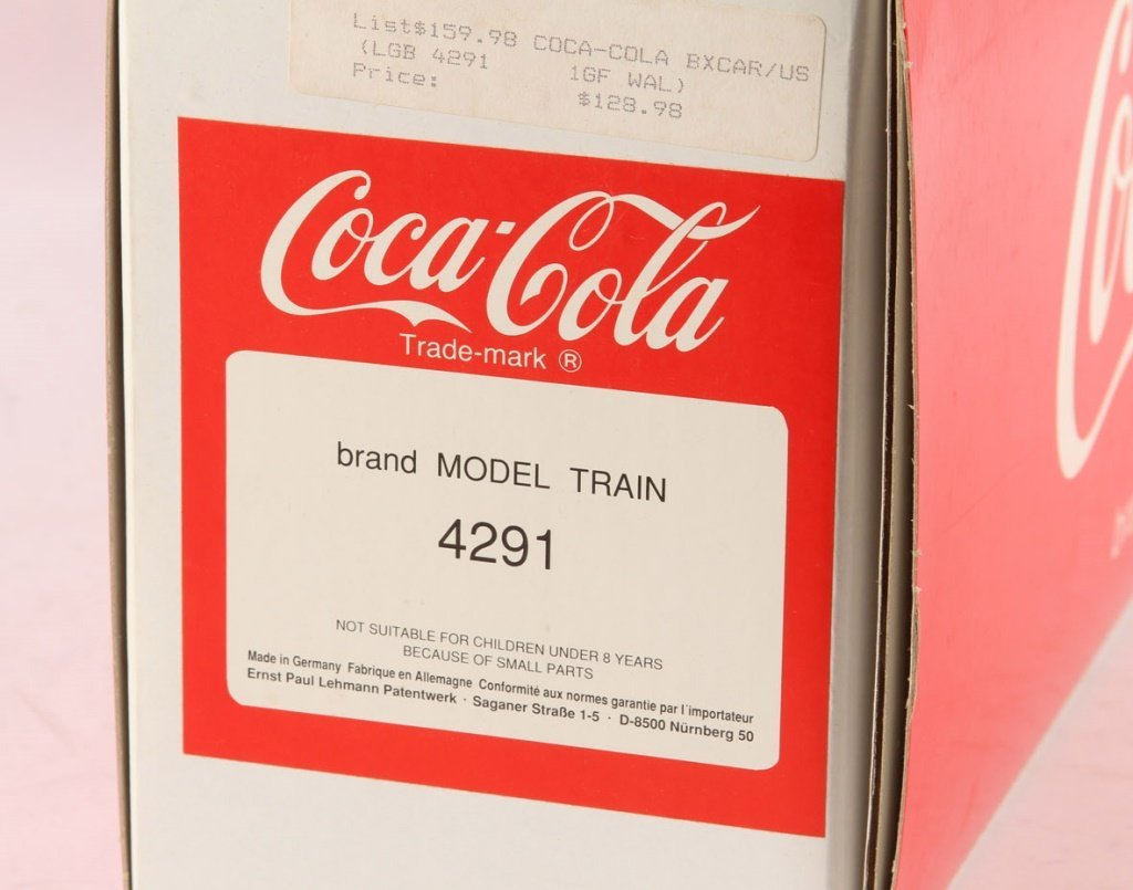 "LGB 4291 COKE ""CAN'T BEAT THE REAL THING"" BOX CAR - 3"
