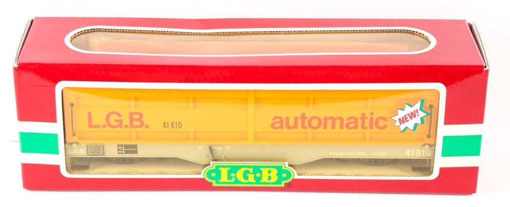 LGB TRAINS YELLOW OPPERATING DUMP CAR 41610