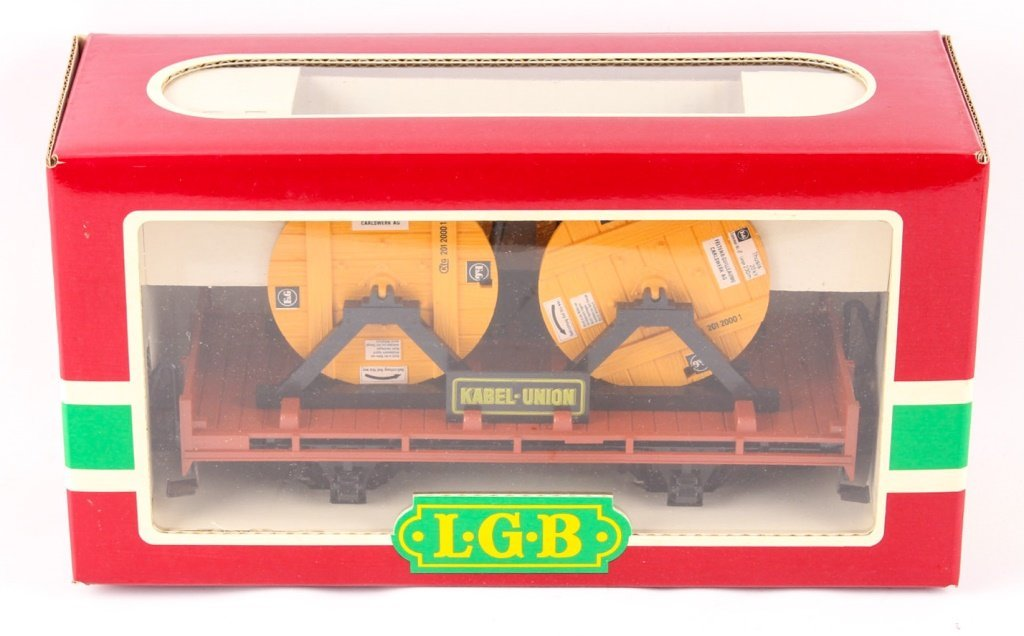 LGB TRAINS KABEL UNION SPOOL CAR 4002