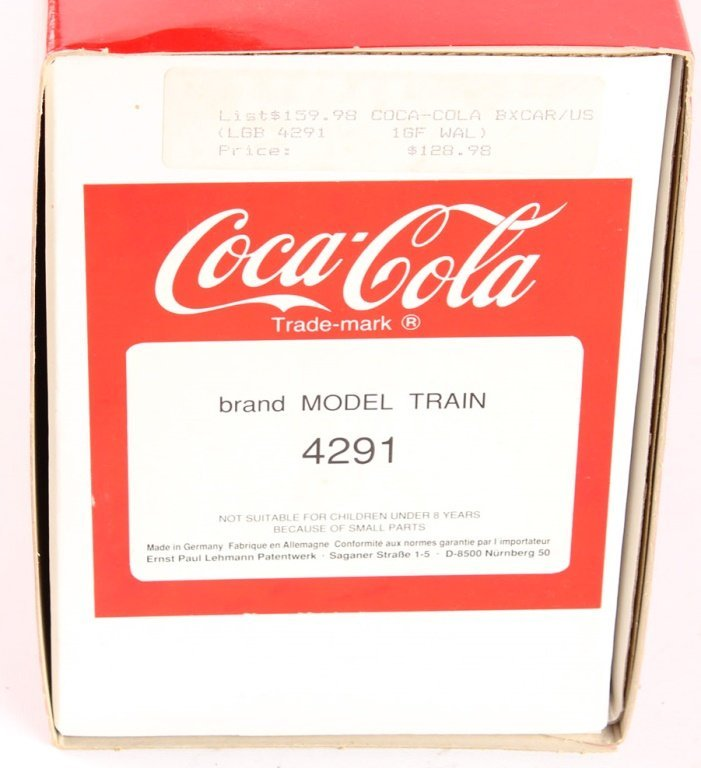 LGB COKE CANT BEAT THE REAL THING BOX CAR 4291 - 2