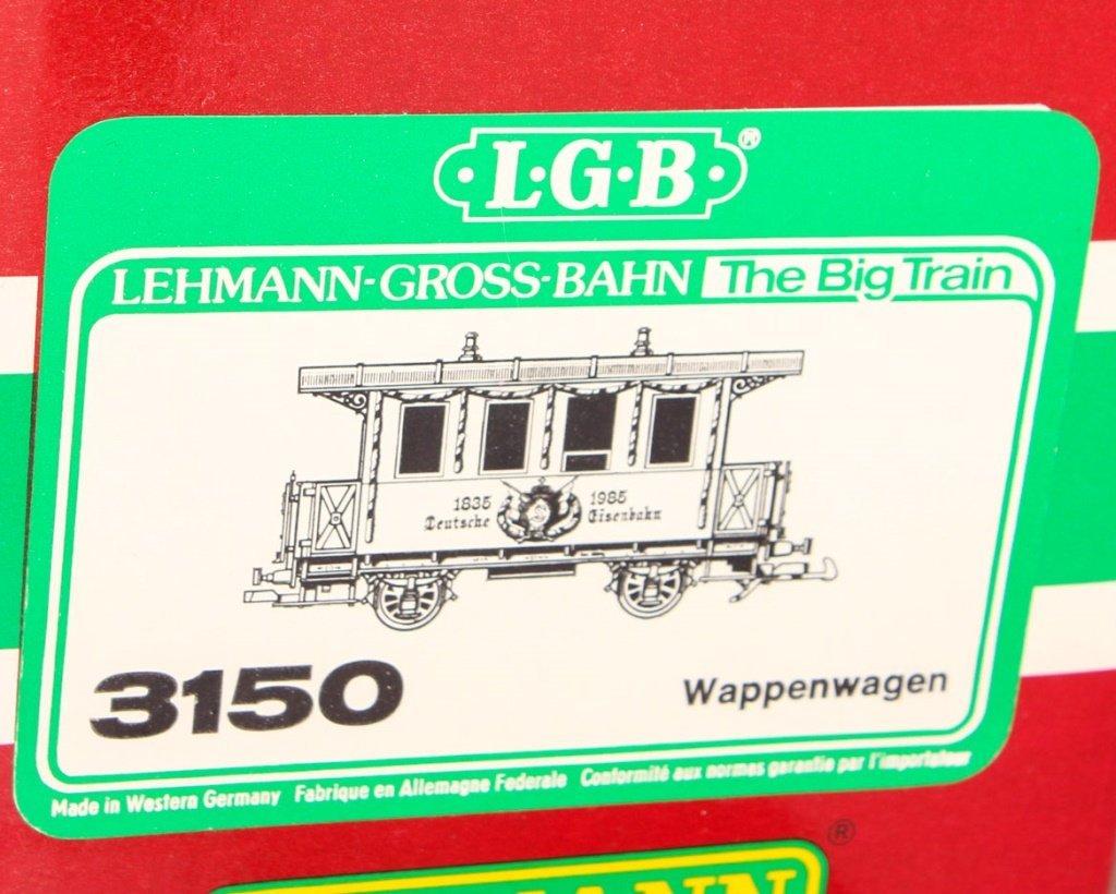 TWO LGB TRAINS: SR & LR FLAT CAR 150TH ANNIVERSARY - 4